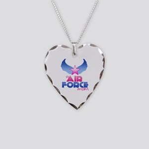 Air Force Mom - Wings - Necklace Heart Charm
