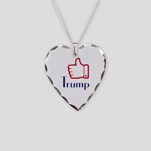 Trump Necklace Heart Charm