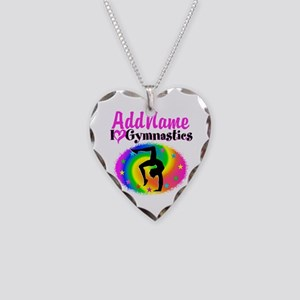 GYMNAST QUEEN Necklace Heart Charm