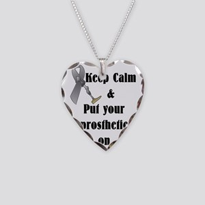 Keep Calm and put your Prosth Necklace Heart Charm