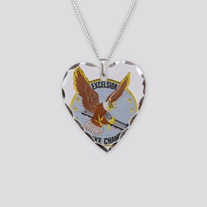 uss lake champlain patch tran Necklace Heart Charm