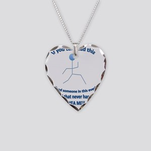 IfYouCanReadThis Womens T-Shi Necklace Heart Charm