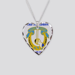 3-7TH CAV RGT WITH TEXT Necklace Heart Charm