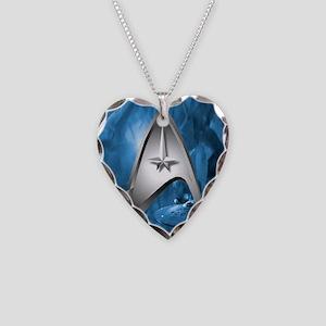 blue star trek case Necklace Heart Charm