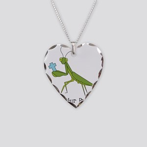 Get Your Pray On Necklace Heart Charm