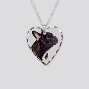 French Bulldog Necklace Heart Charm