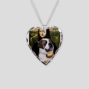Mona / Saint Bernard Necklace Heart Charm