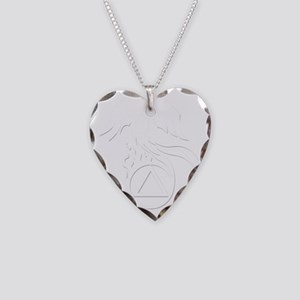 AA Phoenix White Necklace Heart Charm