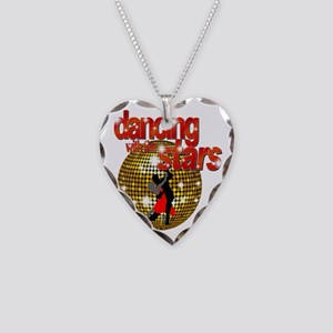 Dancing with the Stars Disco  Necklace Heart Charm