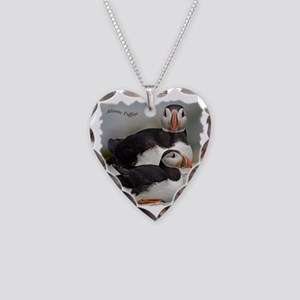 Puffin Tee Necklace Heart Charm