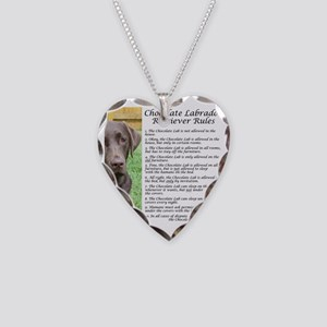 ChocLabRules Necklace Heart Charm