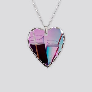 Fizzy drinks Necklace Heart Charm