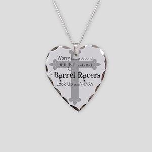 Barrel Racing design Necklace Heart Charm