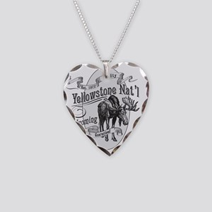 Yellowstone Vintage Moose Necklace Heart Charm