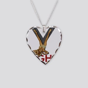 V8 ENGINE Necklace Heart Charm