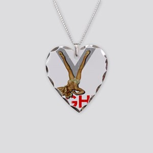 V8 ENGINE DARK copy Necklace Heart Charm