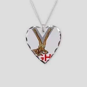 V8 ENGINE DARK copy Necklace Heart Charm