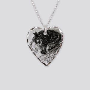 Mane Dance art Necklace Heart Charm