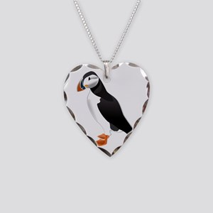 Puffin md Necklace Heart Charm