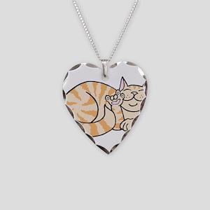 OrangeTabby ASL Kitty Necklace Heart Charm