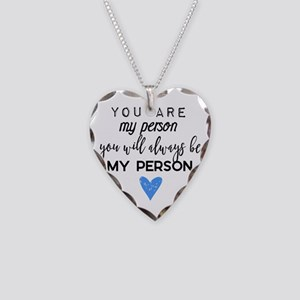 Grey's Anatomy - You are my p Necklace Heart Charm