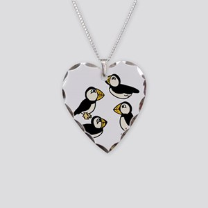 Puffins Necklace Heart Charm