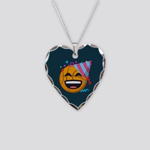 Basketball Party Emoji Necklace Heart Charm