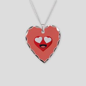 Heart Love Emoji Necklace Heart Charm