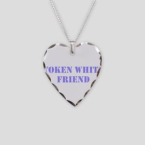 Token White Friend purple Necklace