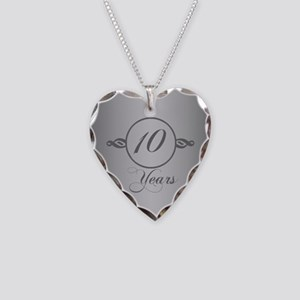 10th Anniversary Necklace Heart Charm
