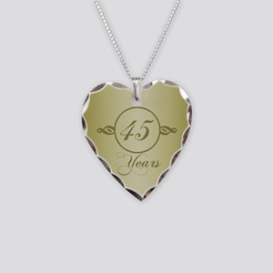 45th Anniversary Necklace Heart Charm