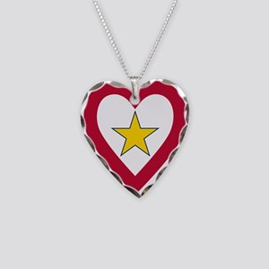 Gold Star Flag Necklace