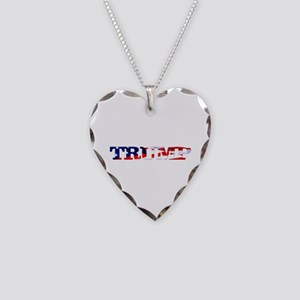 Trump - American Flag Necklace Heart Charm