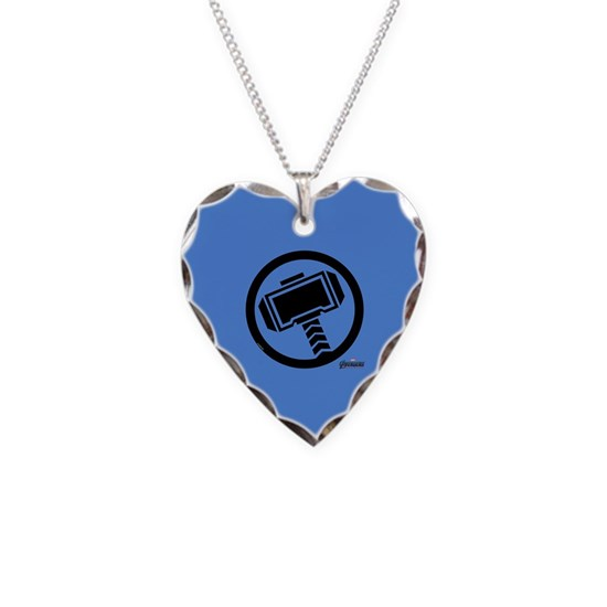 Thor Symbol Necklace Heart Charm