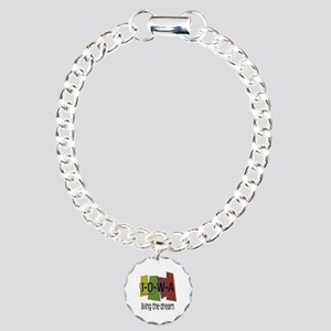 Iowa Living the Dream Charm Bracelet, One Charm