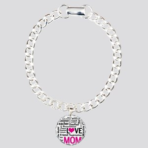 Mom is Love - Birthday,  Charm Bracelet, One Charm