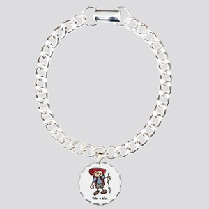Cute Take a Hike Charm Bracelet, One Charm