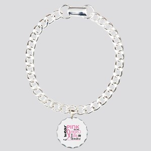 Hero In Life 2 Breast Cancer Charm Bracelet, One C