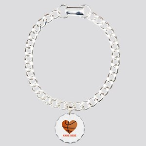Basketball Love Personal Charm Bracelet, One Charm