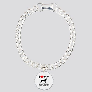 I love My Wire Fox Terrier Charm Bracelet, One Cha