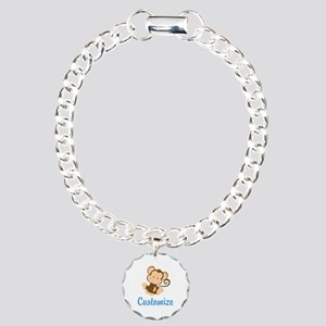 Custom Monkey Charm Bracelet, One Charm