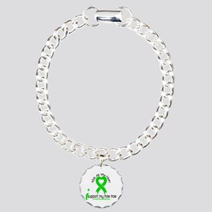 With All My Heart Lymphoma Charm Bracelet, One Cha