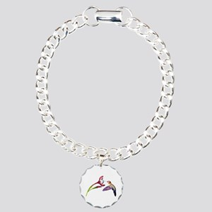 Hummingbird in Flight Charm Bracelet, One Charm