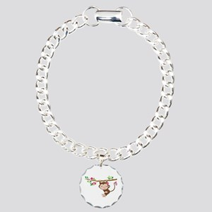 Swinging Baby Monkey Charm Bracelet, One Charm