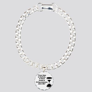 Time Quote Charm Bracelet, One Charm