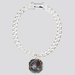 Obama Re-elected Charm Bracelet, One Charm