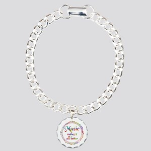 Music Makes it Better Charm Bracelet, One Charm