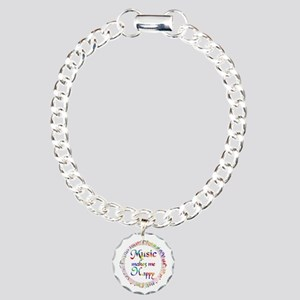 Music makes me Happy Charm Bracelet, One Charm