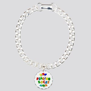 READING ROCKS Charm Bracelet, One Charm