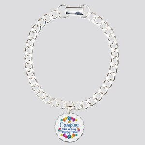 Camping Happy Place Charm Bracelet, One Charm